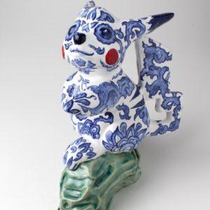 Pikachu | Hoogte 20 cm | Keramiek | Pepijn van den Nieuwendijk | Gallery Untitled