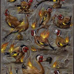 Een vogelstudie | 33,5 x 22,8 cm | Olieverf op paneel | Pepijn van den Nieuwendijk | Gallery Untitled