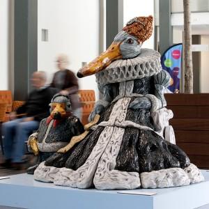 Dame en haar dwerg (2008) | 150 x 150 x 160 cm | Keramiek | Pepijn van den NIeuwendijk | Gallery Untitled