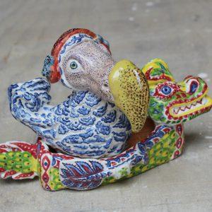 Drakenboot Dodo (Dappere Dodo 1) | 16 x 26 x 13 cm | Keramiek | Pepijn van den Nieuwendijk | Gallery Untitled