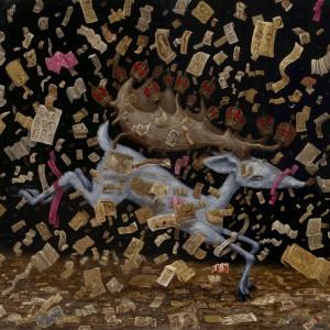 De legende van het hert (2010) | 130 x 110 cm | Olieverf op doek | Pepijn van den Nieuwendijk | Gallery Untitled