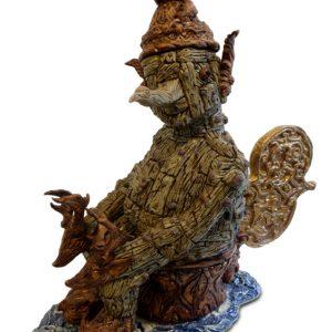 Woodman's Journey | Origineel | Hoogte 75 cm | Keramiek | Pepijn van den Nieuwendijk | Gallery Untitled