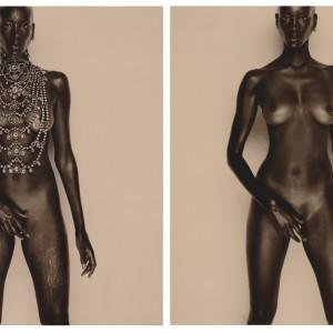 Gin Before & After (1997)   100 x 79 cm 2x (foto) 119 x 89 cm 2x (ingelijst)   2 Iris-giclée prints in 2 houten lijsten   Oplage 5   Marcel van der Vlugt   Gallery Untitled