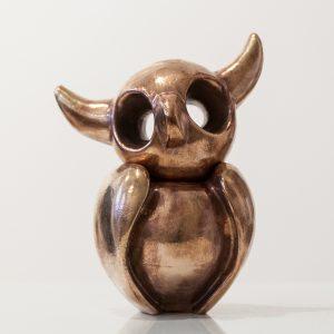 Uiltje | Hoogte 17 cm | Brons in twee delen | Oplage: 8 + 2 AE | Sander Buijk | Gallery Untitled