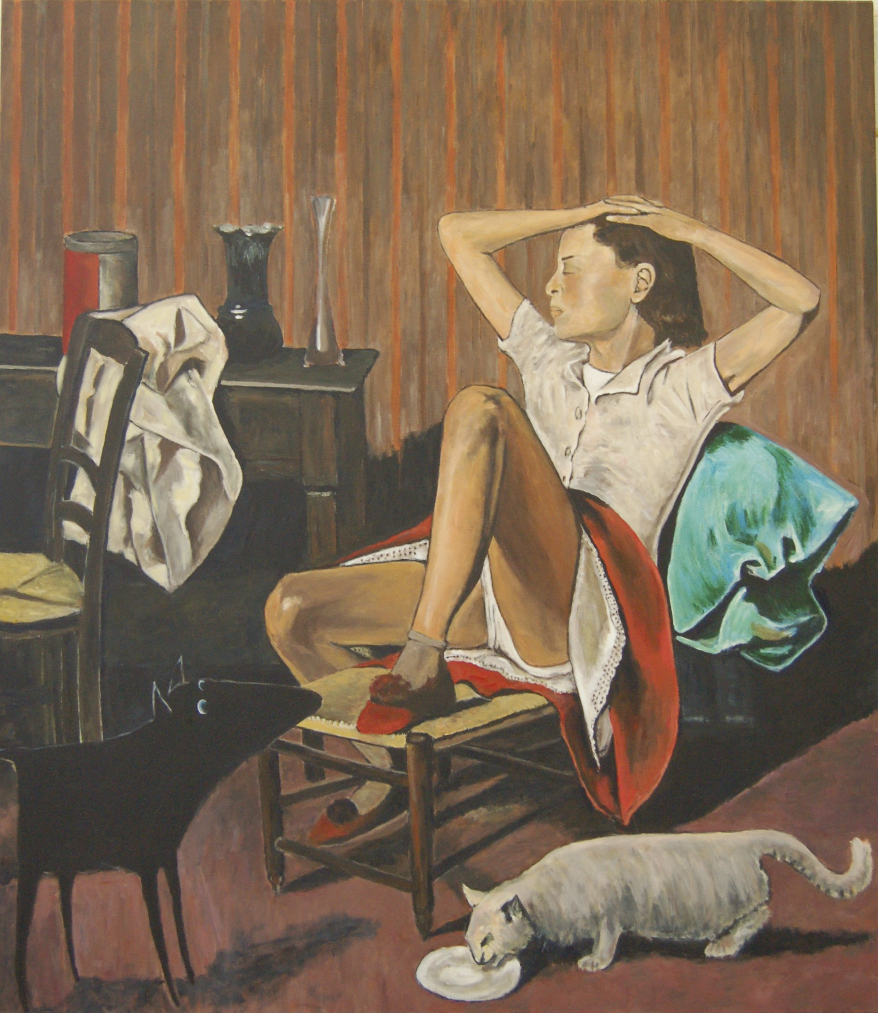Yapping Balthus, Theresa Dreaming 1938 – 150x130cm – Acrylverf op canvas – Origineel – Peter Bastiaanse | Gallery Untitled