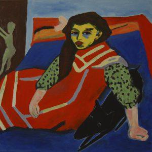Yapping Kirchner, Fränzi 1910 – 70x70cm – Acrylverf op canvas – Origineel – Peter Bastiaanse | Gallery Untitled