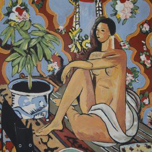 Yapping Matisse, decoratief figuur – 140x100cm – Acrylverf op canvas – Origineel – Peter Bastiaanse | Gallery Untitled