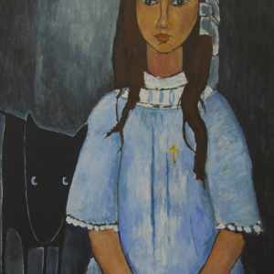 Yapping Modigliani, ALICE 1918 – 140×100 – Acrylverf op canvas – Origineel – Peter Bastiaanse | Gallery Untitled
