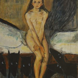 Yapping Munch, puberteit 1895 – 150x110cm – Acrylverf op canvas – Origineel – Peter Bastiaanse | Gallery Untitled