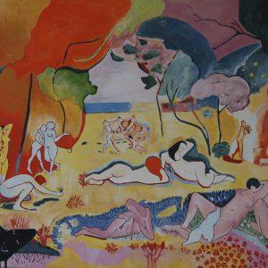 Yapping Matisse, Joie de Vivre 1906 – 120x140cm – Acrylverf op canvas – Origineel – Peter Bastiaanse | Gallery Untitled