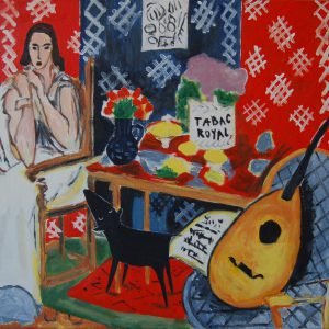 Yapping Matisse, Tabac Royal, Monique (1943) – 80x100cm – Acrylverf op canvas – Origineel – Pater Bastiaanse | Gallery Untitled