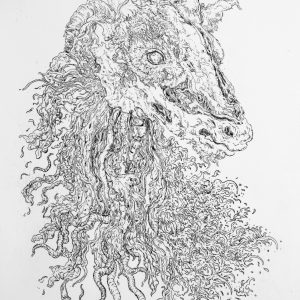The Decapitation of Fragonard's Forest God | 29.7 x 42 cm | Etching | Editions of 10 | Jazz-Szu-Ying | Gallery Untitled