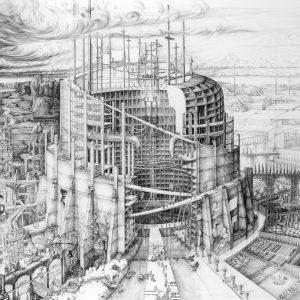 The Babylonian Tower of Modernity | 129 x 94,3 cm (excl. lijst) en 103,2 x 75,44 cm (excl. lijst) | Fine art print | Carlijn Kingma | Gallery Untitled