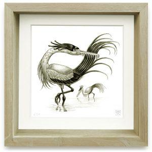 Ardea Rostrapectinata (2006) | 15 x 15 cm | Giclee print op Hahnemühle papier in handgemaakte houten lijst | Oplage 25 + 2AP | Raoul Deleo | Gallery Untitled