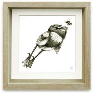 Batrachopus Leucostethus (2006) | 15 x 15 cm | Giclee print op Hahnemühle papier in handgemaakte houten lijst | Oplage 25 + 2AP | Raoul Deleo | Gallery Untitled