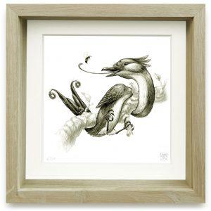 Oxylophus Dendrostrophus (2006) | 15 x 15 cm | Giclee print op Hahnemühle papier in handgemaakte houten lijst | Oplage 25 + 2AP | Raoul Deleo | Gallery Untitled