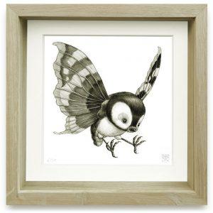 Psychornis Leucopsis (2006) | 15 x 15 cm | Giclee print op Hahnemühle papier in handgemaakte houten lijst | Oplage 25 + 2AP | Raoul Deleo | Galerie Untitled | Gallery Untitled