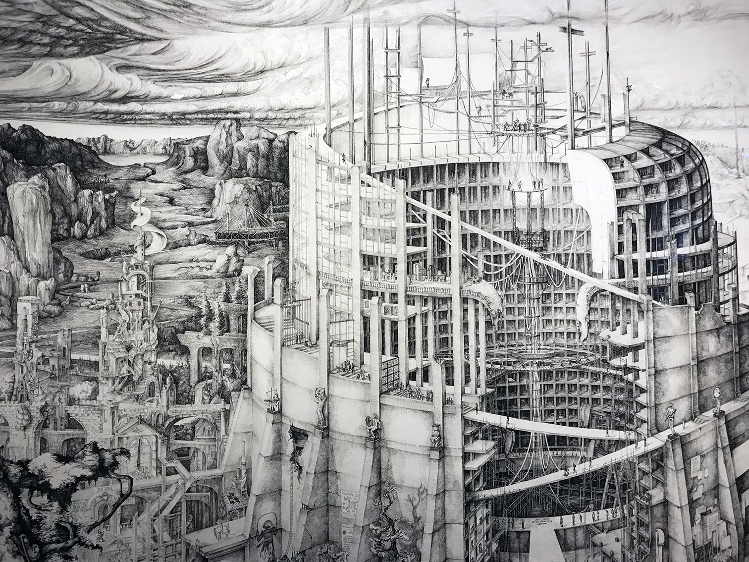 Detail The Babylonian Tower of Modernity | Carlijn Kingma | Gallery Untitled