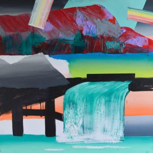 Kalypso #2 | 170 x 170 cm | Acrylverf, papier en emulsie op canvas | Sasja Hagens | Gallery Untitled
