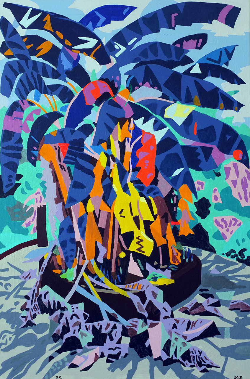 Achteruin | 100 x 150 cm | acryl- en olieverf op canvas | origineel | Johan Kleinjan | Gallery Untitled