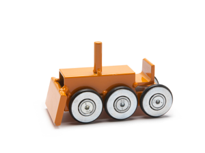Archetoys Bulldozer oranje | Onbeperkte oplage | Staal gecoat | Floris Hovers | Gallery Untittled