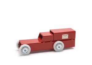 Archetoys Postwagen rood | Onbeperkte oplage | Staal gecoat | Floris Hovers | Gallery Untittled