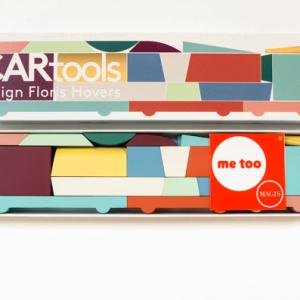 CARtools | afmeting doos: 46,5 x 11,5 x 5 cm | div. modellen zelf te bouwen | beukenhout & waterbasis lak | Floris Hovers | Gallery Untitled