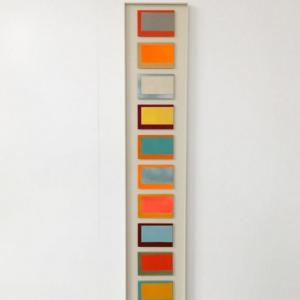 Color Range, 2017 | Origineel | 108 cm | div. kleuren lak (terpentinebasis) op karton - hout | Floris Hovers | Gallery Untitled