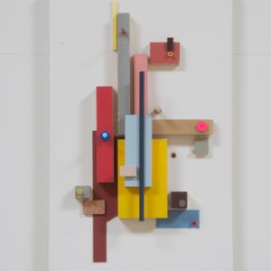 Compositie 02, 2019 | Oplage: 1/1 | 34 x 21 cm | div. soorten hout/multiplex, lak, karton en kunststof | Floris Hovers | Gallery Untitled