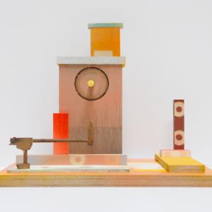 Coóperation, 2015 | Oplage 1/1 | 34 x 23 x 28,5 cm | div. soorten hout/multiplex en lak (water/terp.) | Floris Hovers | Gallery Untitled