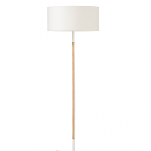 Stoklamp | Onbeperkte oplage | 58,5 x 58,5 x 169 cm | Essen, staal gecoat, polyester | Zwart of wit | Floris Hovers | Gallery Untitled