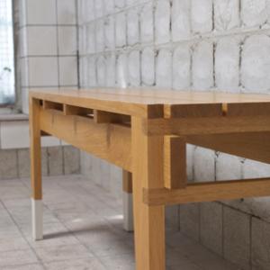 Strafbankje, 2014 | Oplage 1/1 | 120 x 33 x 47 cm | Eiken - blanke lak | Floris Hovers | Gallery Untitled