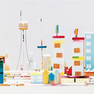 City01, 2015-2016 | Oplage: 1/1 | 246,5 x 125 cm | hout/multiplex, lak, metaal, kunststof en karton | Floris Hovers | Gallery Untitled